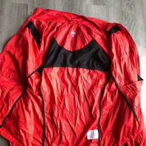 Nike Jackets & Coats - Nike • Women's Red Wind Breaker Rain Jacket